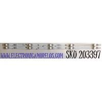 KIT DE LED'S PARA TV HISENSE (2 PIEZAS) / NUMERO DE PARTE LB32129 / LB32129 V0 / LB32129 V1 / JHD315V1H01-TXL1+2019111401 / JHD315V1H73-TXL1B1+2019111401 / PANEL JHD315V1H01-TXL1/S0/GM/ROH / MODELO 32H4030F1