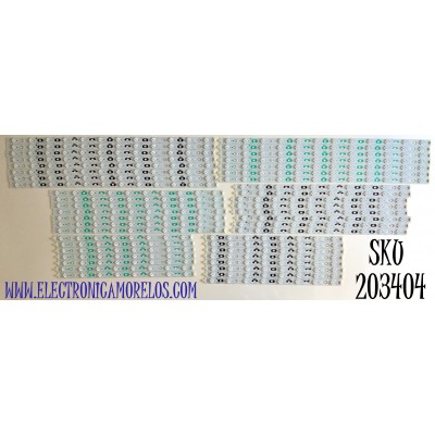 KIT DE LED'S PARA TV SHARP (45 PIEZAS) NUMERO DE PARTE SN-AG-CU / HX-S(I).94-0 / 5069 / 5070 / 5071 / 5072 / 5073 / 5074 / PP/MP V1.0 PITCH 56MM / PANEL LK800D3GW40Z / MODELO LC-80LE844U