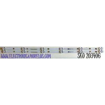 KIT DE LED'S PARA TV ONN (2 PIEZAS) / NUMERO DE PARTE LB-C320-D6C / LB-C320-D6C-X-H-6-12-X1 / CRH-BX32D6C3030060299A REV1.1 / 32D6C / 223554 / Y166-L05-KA-5  B07L1AJ / PANEL C320Y19-D6 / MODELO 100012589