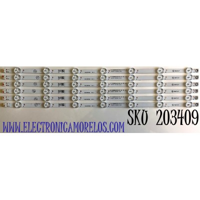 KIT DE LED'S PARA TV PHILIPS / (6 PIEZAS) / NUMERO DE PARTE UDULEDREF004 / RF-EN500002SR30-0701  A0 / UDULEDREF004  REV.A / 50W7S1P / MODELO 50PFL5604/F7  A