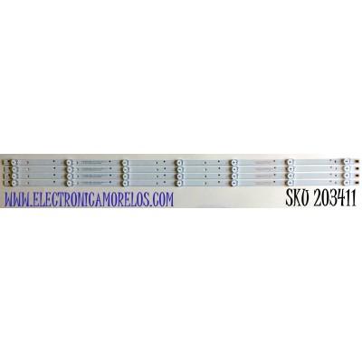 KIT DE LED'S PARA TV POLAROID (4 PIEZAS) / NUMERO DE PARTE AK40_40Y16_4X7_1W_MCPCB / AK40_40Y16_4X7_1W_MCPCB 12mm_V1 / 21006442-HRS / PANEL LSC400HN02-804 / MODELO PTV3915LED
