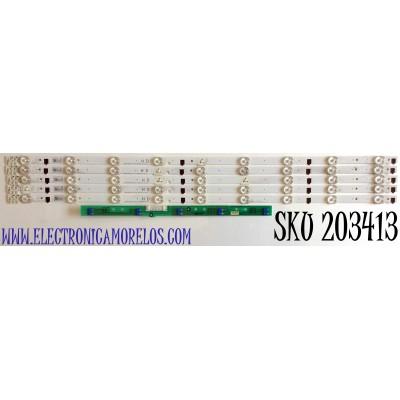 KIT DE LED'S PARA TV SAMSUNG (5 PIEZAS) / NUMERO DE PARTE 25299A / SAMSUNG 2013SVS32H 9 REV.17 / PANEL CY-HF320AGLV1H / MODELO UN32F4000