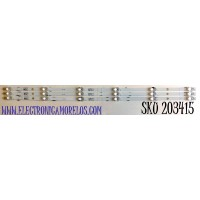 KIT DE LED'S PARA TV HISENSE (3 PIEZAS) / NUMERO DE PARTE LB39602 / LB39602  V0-2020062201 / JBD396V1F-LB02 / PANEL  JHD396V1F01-TXL/S1/GM / JHD396V1F02-TXL1/CKD3A/ROH / V400HJ6-PE1 / MODELO 40H4030F1