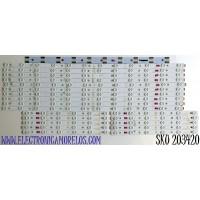 KIT DE LED'S PARA TV VIZIO (20 PIEZAS) / NUMERO DE PARTE LB5514C / LB5514C V0_02 / LB5514C V1_02 / 210BZ06DR / 210BZ12DL / PANEL TPT550U1-QVN05.U  REV:S5DB1C / MODELOS M558-G1 / M558-G1 LTMWYGKV / LTCWYGNW / M558-G1 LTMWYGLV