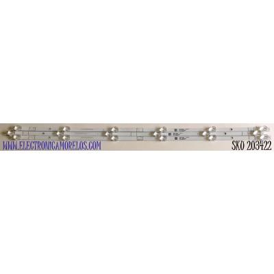 KIT DE LED'S PARA TV HISENSE (3 PIEZAS) / NUMERO DE PARTE 1211498 / CRH-BX40C130300603913REV1.0 / 201109X / 22796900 / PANEL V400HJ6-PE1 / MODELO 40H4030F