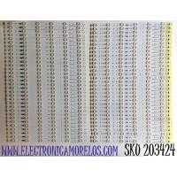 KIT DE LED'S PARA TV SHARP (64 PIEZAS) / NUMERO DE PARTE SAMSUNG_2014SDP80_4K_3228 / SAMSUNG_2014SDP80_4K_3228_IN06_REV1.0 / SAMSUNG_2014SDP80_4K_3228_OUT06_REV1.0 / LM41-00119G / LM41-00119F / PANEL JE805R3LW00A / MODELO LC-80UE30U