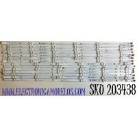 KIT DE LED'S PARA TV VIZIO (14 PIEZAS) NUMERO DE PARTE SVV700A24 / SSC_TPV70_7X12_2W_MCPCB 12mm_R_V2 / SSC_TPV70_7X12_2W_MCPCB / K155A5BV321K / 210BZ06DLB33TBT00B / 210BZ06DRB33TBT00B / PANEL TPT700B5-V1T01D / MODELOS V705-G1 / V705-G1 LTCHQTAV / LTCHQTBW