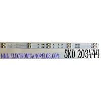 KIT DE LED'S PARA TV HKPRO (2 PIEZAS) NUMERO DE PARTE 303TC320034 / TCL32D05-ZC22AG-11 / TC320M05 / 4C-LB320T-ZC2C / PANEL LVW320CSDX E26 V31 / MODELO HKP32F18