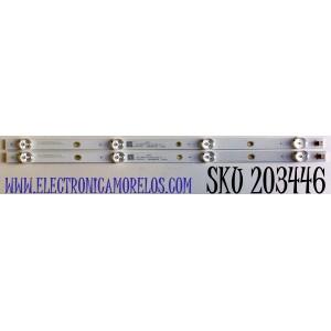 KIT DE LED'S PARA TV ONN (2 PIEZAS) NUMERO DE PARTE ZG24G5C3030040293F / CRH-ZG24G5C3030040293FREV1.0 / LB-C240Y19-5C(XCG5CLS01)-X1 / Y174L07JA5 / B201028A3FA / 226921 / 24G5C / PANEL C240Y19-D6 / MODELO 10012590