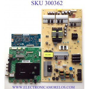 KIT DE TARJETAS PARA TV INSIGNIA SMART TV / NUMERO DE PARTE MAIN GXKCB02K035 / 715GA715-M01-B00-005G / 715GA715-M01-B00-005K / FUENTE PLTVJI351XXB3 / 715G9187-P01-009-003S / T-CON 55.65T55.C19 / 5565T55C19 / PANEL TPT650UA-QVN07.U / MODELO NS-65DF710NA21
