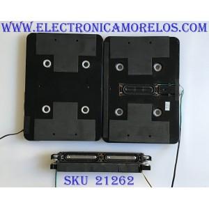 KIT DE BOCINAS SAMSUNG / BN96-11610A / K69J30SJ30 / BN9609470C / K99J29SJ33 / PANEL LTF550HF04 A04 / MODELO UN55B7100WFXZA