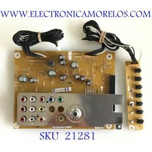 TARJETA TUNER DE A/V / SANYO / 1LG4B10Y104AA Z6WE / 1LG4B10Y104AA / Z6WE / PANEL V500HJ1-L01 Rev.C1 / MODELO FVM5082 / DP50843 P50843-04 / DP50842 P50842-00