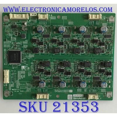 LED DIRIVER / RUNTK4433TPZZ / 08-Z001347 / RUNTK4433TP / CPWBN4433TP / PANEL LK520D3LWBOZ / MODELOS LC-60LE920UN