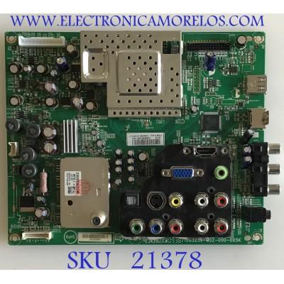 MAIN INSIGNIA / 756TQ9CBZK04501 / 715G3239-M02-000-005K / TQ9CBZK04501 / PANEL T260XW02 V.U / MODELOS NS-L26Q-10A