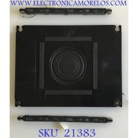 KIT DE BOCINAS PARA TV SHARP / 112210 / PC+ABS FR(40) / ZA513WJ / JH960 / PANEL LK600D3GW30R / MODELO LC-60LE831U