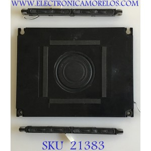 KIT DE BOCINAS PARA TV SHARP / 112210 / PC+ABS FR(40) / ZA513WJ / JH960 / PANEL LK600D3GW30R / MODELO LC-60LE831U