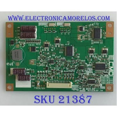 LED DRIVER TOSHIBA / 27-D046593 / 4H.V3236.001/A4 / L315B5-2EA-F001B / V323-201 / PANEL V315B5-LE1 REV.C2 / MODELO  32SL415U / 32SL400U / 32SLV411U / VT3210LED VS13772-1M