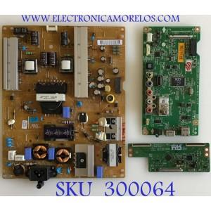 KIT DE TARJETAS  LG / MAIN EBT63034611 / EAX65614404(1.0) / FUENTE EAY63072101 / LGP55-14PL2 / T-CON 6871L-3653B / 6870C-0471D / PANEL LC550DUE (FG)(A6) / MODELO 55LB5550-UY.BUSWLJR
