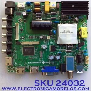 MAIN FUENTE PARA TV ELEMENT / NUMERO DE PARTE  21005686 / TP.MS3393.PB801 / TP.MS3393.PB801 / PANEL MD50004YIF / MODELO ELFW5017