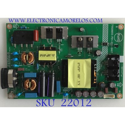 FUENTE DE MONITOR DELL / I2010QD1 / 715G9955-P01-000-0HGT / (Q)I2010QD1 / PANEL M320DVN02.0 / MODELO S3219DC