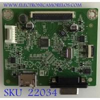 MAIN MONITOR DELL / 790QA1300A02R01 / 492A00BF13000H01 / PANEL LM238WF2 (SS)(K2) / MODELO SE2419HX