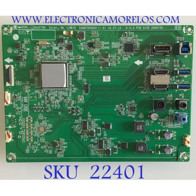 MAIN PARA MONITOR LG / EAX67093201  / EAX67093201 (1.6) / NP79F10945 / PANEL LM340WW2 (SS)(A1) / MODELO 34UC79G-BG.AUSSMPN