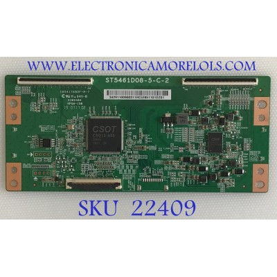 T-CON TCL / 3429110090031 / ST5461D08-5-C-2 / PANEL LVU550NDBL / MODELO 55R625
