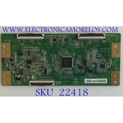 T-CON HISENSE / 44-9771401A / 47-6021235 / HV550QUBH10 / PANEL HD550S1U81-L1\S0\GM\ROH / MODELO 55R6E