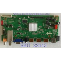 MAIN PARA TV DIGITALSTREAM / XBH-RE01-13027-XK77 / LD.M3391.M1 / LLLDM3391M113 / PANEL TLV5521-01LEDM / MODELO DETK550D