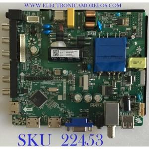 MAIN FUENTE ((COMBO)) PARA TV RCA / 260104014010 / TP.MS3553.PB801 / N19061232 / 4100034610 / PANEL HK395WLEDM-CHB8H / V400HJ6-PE1 / MODELO TR4038-G