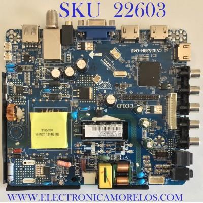 MAIN FUENTE PARA TV SUPERSONIC / CV3553BH-Q42 / 306010J553Q / PANEL CX315DLED / MODELO SC-3210