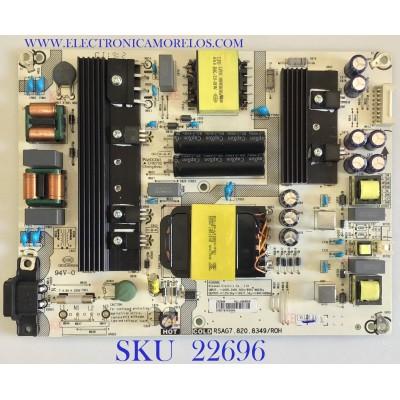 FUENTE PARA TV SHARP Y HISENSE / 242444 / RSAG7.820.8349/ROH / HLL-4465WK / PANEL HD580S1U02-L1 / HD580S1U03-L1\GM\CKD3A\ROH / MODELO LC-58Q7370U / 58RGE