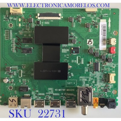 MAIN PARA TV TCL / V8-ST10K01-LF1V1291 / 40-MST10F-MAA2HG / SVSMST1008-MA200AA / PANEL T550QVN05.7 / MODELO 55S423LIAA