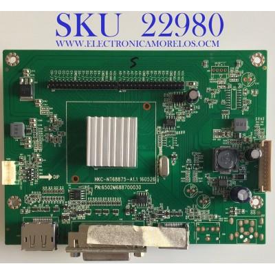 MAIN PARA MONITOR MSI / 50126887500030 / 6502M688700030 / HKC-NT68875-A1.1 / 10791 / D186G / PANEL LSM236HP02-M02 / MODELO G24C