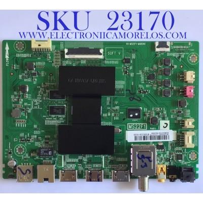MAIN PARA TV TCL / SVSMS22F03-MA200AA / 40-MS22F1-MAB2HG / V8-ST22K01-LF1V2178 / NTX00031A-01026 / PANEL V500DJ6-QE1 REV.C1 / MODELO 50S423 MEBA / 55S423