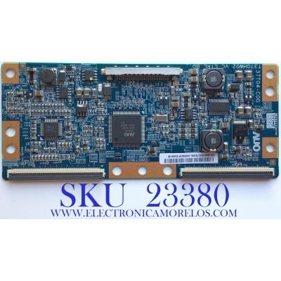 T-CON PARA TV SAMSUNG / 55.40T03.C16 / 37T04-C0G / T370HW02 VC / 5540T03C16 / PANEL T400HW02 V.3 / MODELO LN40B550K1FUZA