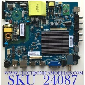 MAIN  FUENTE (COMBO) / PARA TV ELEMENT / NUMERO DE PARTE E18054-ZX / CV6486H-A42 / 7.D6486HA42110.3A8 / CV6486H_A42_11_171117 / T201803279A / 20180423230409 / V500DJ6-QE1 / 8142127642013 / PANEL CN500NC0350 / MODELO E2SW5018 D8C4M
