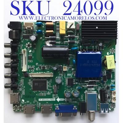 MAIN FUENTE PARA TV ELEMENT / NUMERO DE PARTE K17041554 / TP.MS3393.PB801 / K17041554-2A01211 / 21005934 / PANEL MD5009YTIF / MODELO ELFW5017