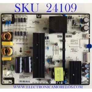 FUENTE DE PODER PARA TV ELEMENT / NUMERO DE PARTE CH3105D-1MF530 / G18120743 / G18120743-0H06180 / E347210 / CQC0SP169 / CH3105D-1MF 530 / PANEL C500F18-E61-P / MODELOS E2S5018 / E2SW5018 P8Q0H