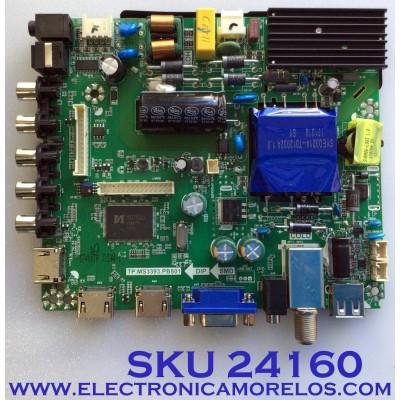 MAIN FUENTE PARA TV ELEMENT / NUMERO DE PARTE  K17041544 / TP.MS3393.PB801 / K17041544-1A00602 / 21005932 / DJ5-G2 / 20170516_155135 / PANEL MD5009YTIF / MODELO ELFW5017