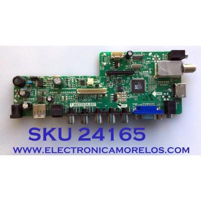 MAIN FUENTE (COMBO) PARA TV ELEMENT / NUMERO DE PARTE B14080104 / 34012255 / T.MS3393A.E67 / PANEL MV238FHB-N10 / MODELO ELEFW247 H14002