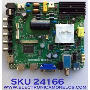 MAIN PARA TV ELEMENT / NUMERO DE PARTE  K17031044 / TP.MS3393.PB801 / K17031044-0A02693 / 21005686 / KR17-0037 / 20170315_163610 / PANEL MD5004YTIF / MODELO ELFW5017