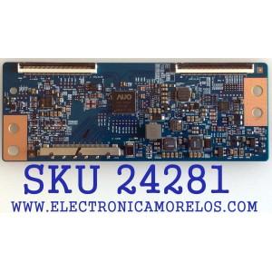 T-CON PARA TV ELEMENT / VIZIO / WESTINGHOUSE / NUMERO DE PARTE 55.55T23.C07 / 5555T23C07 / 42T34-C03 / SUSTITUTAS 5555T23C02 / 5555T23C05 / 5555T23C09 / PANEL´S MD5533YTAF / T550HVN08.1 / TPT550J1-HVN08.U / MODELOS ELEFW5517 / E55-C1 / E55-C2 / DWM55F1G1