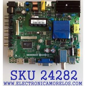 MAIN FUENTE (COMBO) PARA TV ELEMENT / NUMERO DE PARTE 34015946 / TP.MS3393.PB801 / K16031081/ PANEL T500HVN08.2 / MODELO ELEFJ501 / ELFW5017 R807RRR