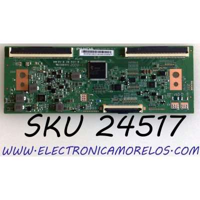 T-CON PARA TV VIZIO / JVC / NUMERO DE PARTE RUNTK0135ZZ / CCPD-TC550-001 V1.0 / E88441 / CCPD-TC550-001 / PANEL TPT550F2-PU4L01.Q REV:S01C / MODELOS V555-H1 / V555-H1 LTCDZHKW / LT-55MAW705