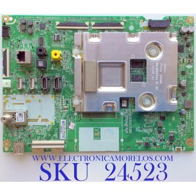 MAIN PARA SMART TV LG 4K UHD NanoCell CON HDR RESOLUCION (3,840 x 2,160) / NUMERO DE PARTE EBU65707102 / EAX68382502(1.0) / 9C1L00CE-0002 / XU93B1A43P / PANEL HC490EQH-SLXA1-211X / MODELO 49SM8600PUA.BUSYLJM