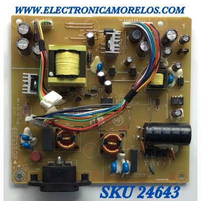 FUENTE DE PODER PARA MONITOR DELL / NUMERO DE PARTE 55.7A2A3.MAZG / 48.7A207.021 / L8316-2 / 12264651 / 9331P34979 / 9331P6271 / 55.7A203.A32G / PANEL LM220WE5 (TL)(A1) / MODELO G2210T