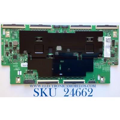 T-CON PARA TV SAMSUNG / NUMERO DE PARTE BN95-06566A / BN41-02764A / BN97-16901A / 20200319 / 01021755279 / PANEL CY-TT075JMLV4H / MODELO QN75Q800TAFXZA