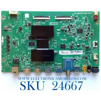 MAIN PARA SMART TV TCL (ROKU) 4K UHD HDR RESOLUCION (3840 x 2160) / NUMERO DE PARTE 08-CS65TML-LC273AA / 40-MS22T5-MAA2HG / MS22T5 / 08-MS22T10-MA200AA / 08-MS22T10-MA300AA / V8-ST22K01-LF1V2378 / PANEL LVU650NDEL CS9W11 / MODELO 65S435