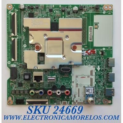 MAIN PARA SMART TV LHG 4K UHD HDR RESOLUCION (3840 x 2160) / NUMERO DE PARTE EBT66433302 / EAX6908363(1.0) / OHEBT000-008F / RU07B2A08F / PANEL NC650DQG-AAHX1 / MODELO 65UN7300PUF.BUSWLKR / 65UN7300PUF